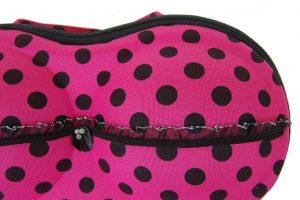 048. BH koffer donker roze stip