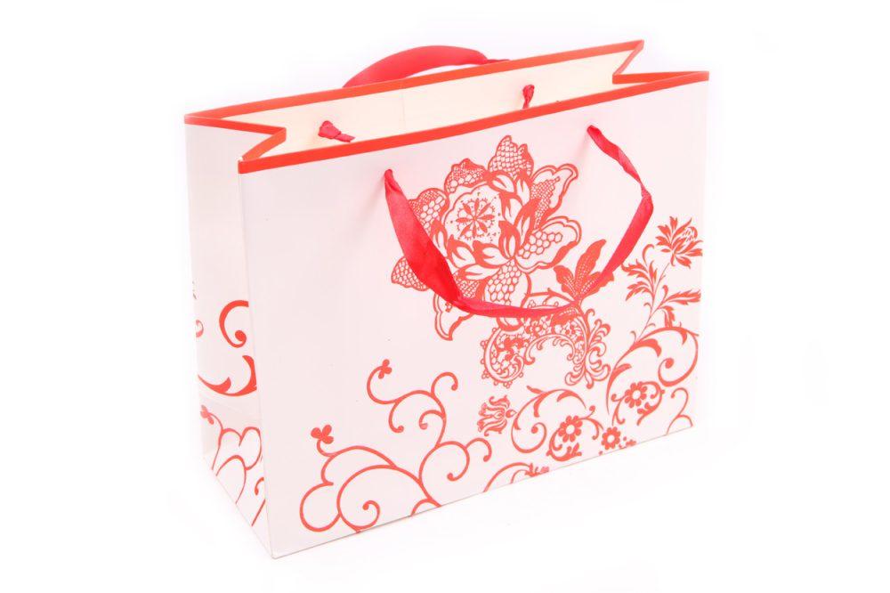Verpakking bloem rood