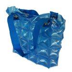 Opblaasbare tas blauw