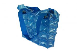 013. Inflatable bag blue