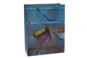 001. Verpakking spijkerbroek groen zakje (12 st.)