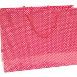 Verpakking stip donker roze/wit