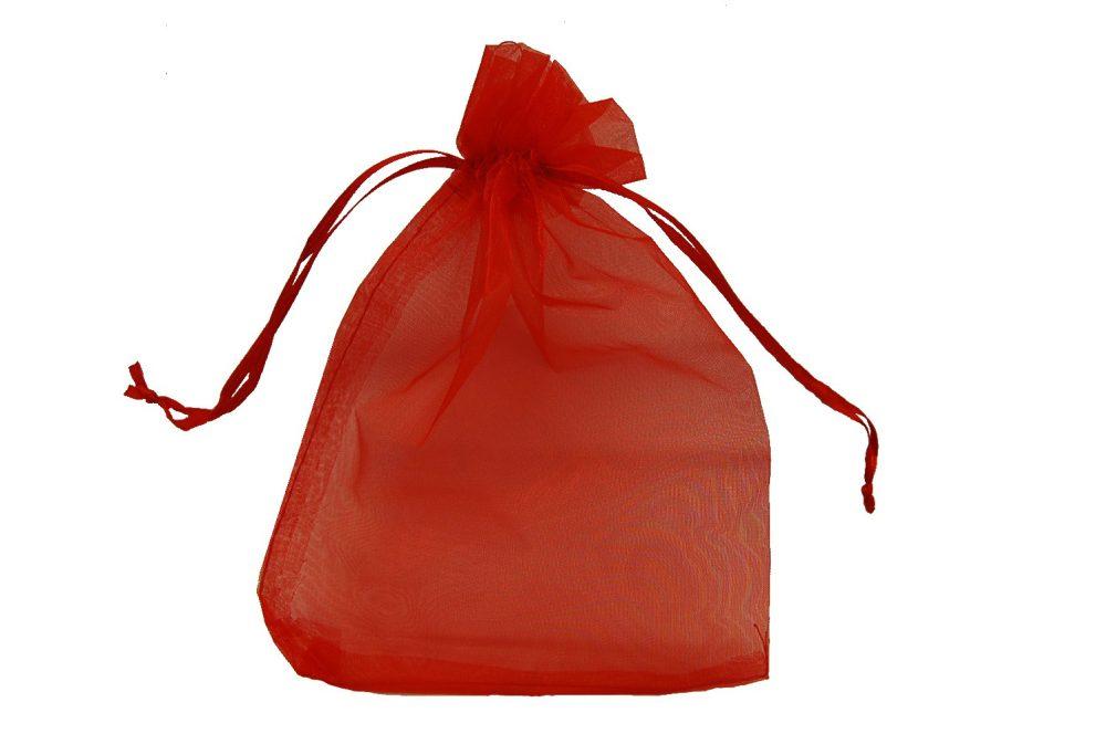 Organza verpakking rood