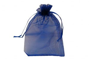 008. Organza packaging blue (50 pcs.)