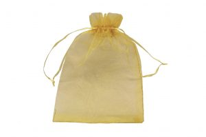 008. Organza packaging gold (50 pcs.)