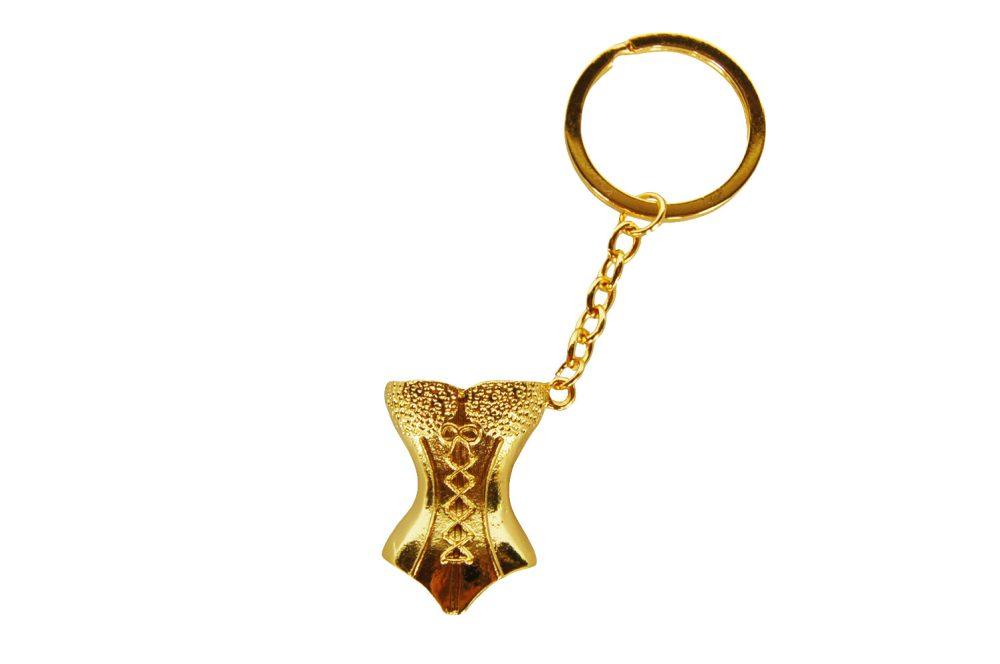 Sleutelhanger corset goud