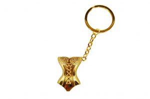 035. Sleutelhanger korset goud