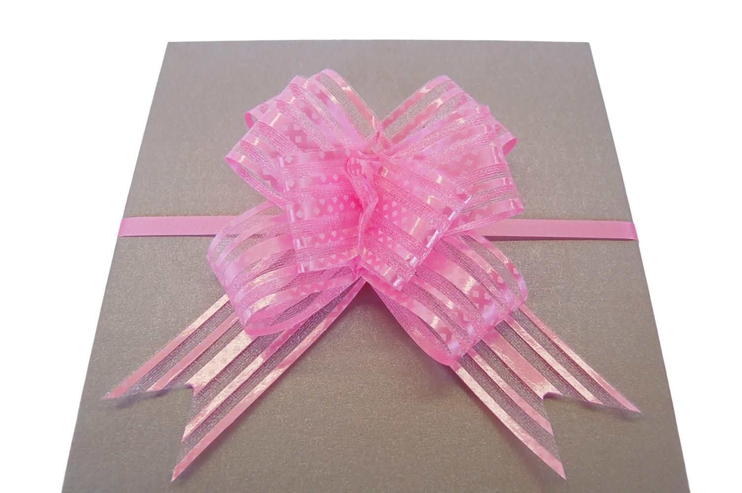 Strik stip licht roze