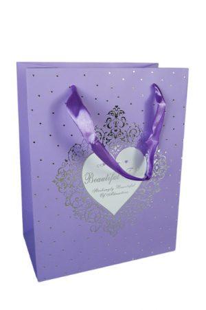 001. Verpakking hartje paars (12 st.)