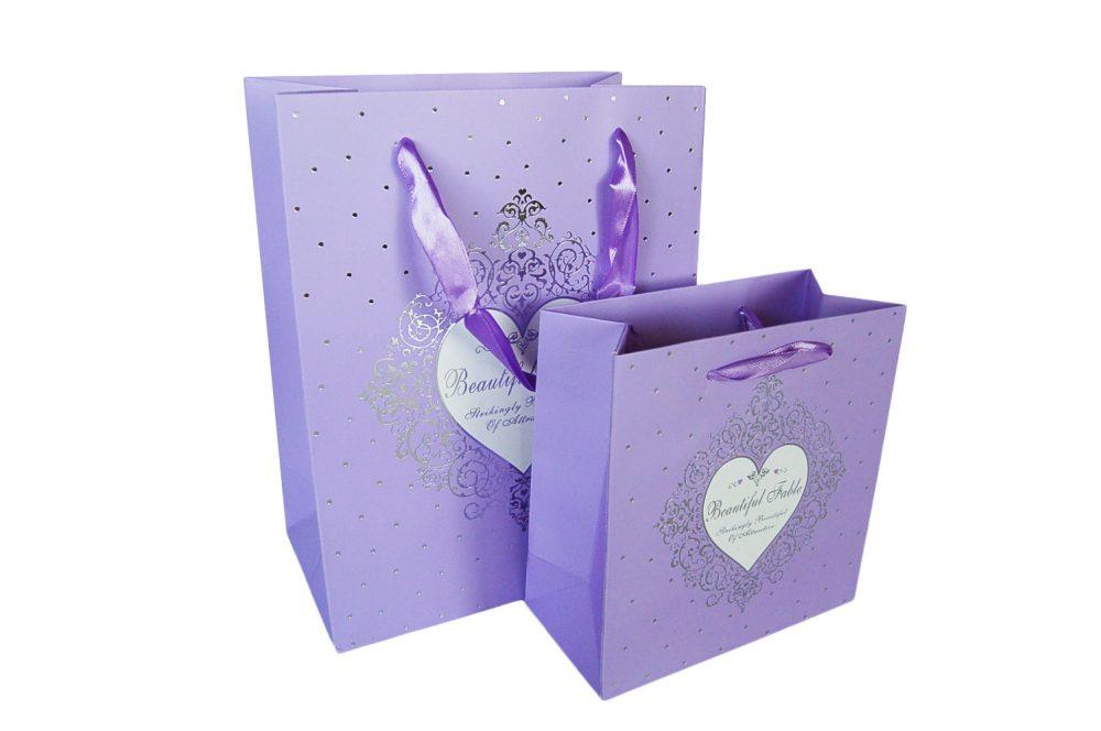 Verpakking hartje paars