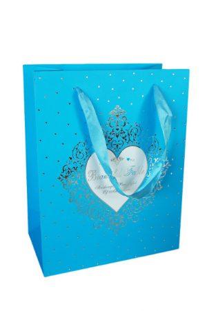 001. Verpakking hartje blauw (12 st.)