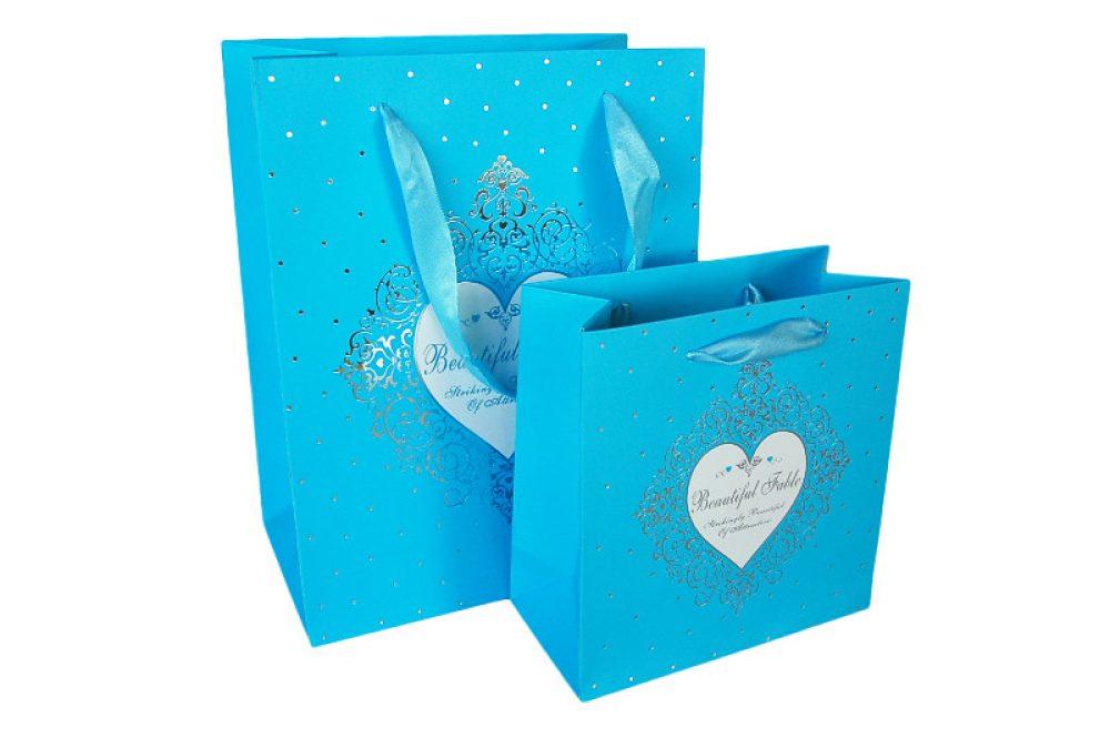 Verpakking hartje blauw