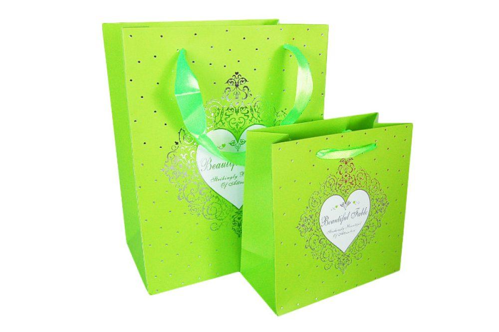 Verpakking hartje groen