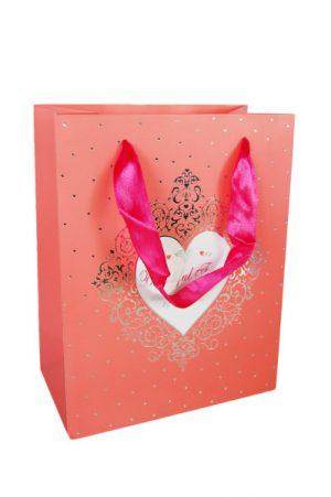 001. Verpakking hartje roze (12 st.)