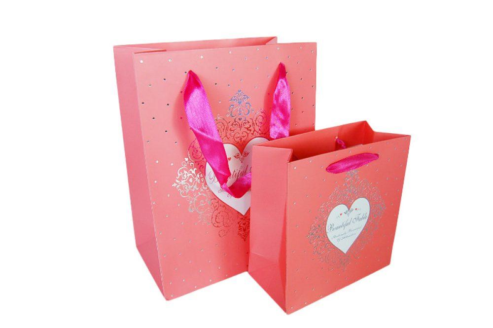 Verpakking hartje roze