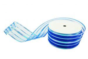 020. Decoratie lint breed blauw