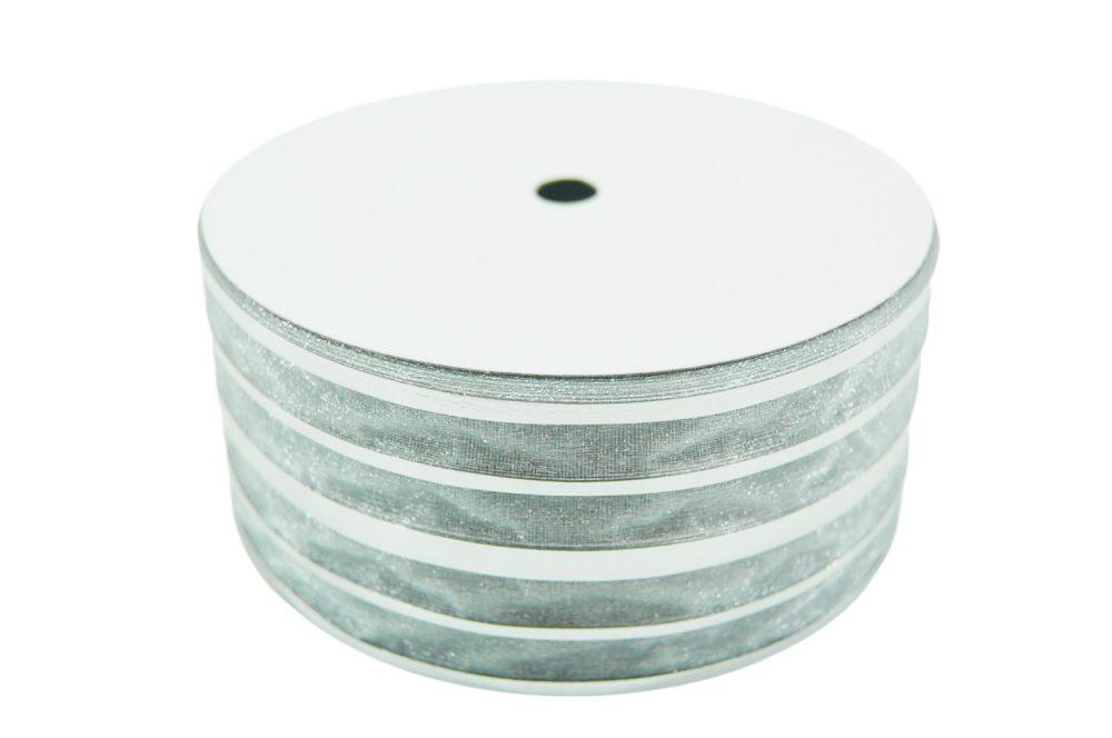 Decoratie lint breed zilver