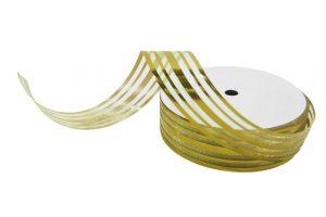 020. Decoratie lint middel goud