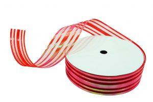 020. Decoratie lint middel rood