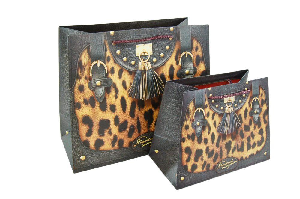 Verpakking handtas leopard