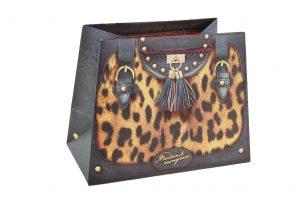 001. Verpakking handtas leopard (12 st.)