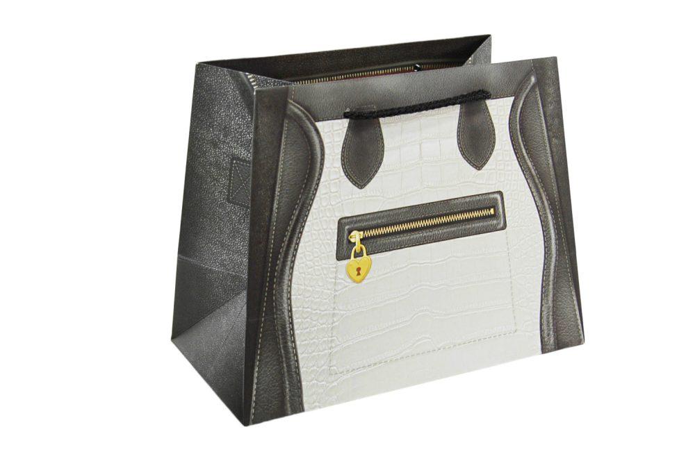 Verpakking handtas zwart/wit