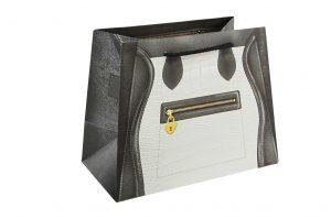 001. Verpakking handtas zwart/wit (12 st.)