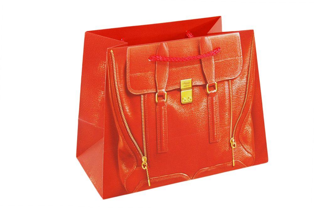 Verpakking handtas rood