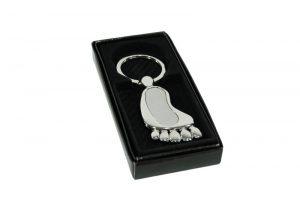 036. Sleutelhanger voet graveer in gift box