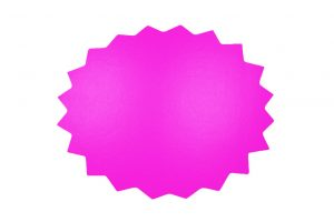 053. Schrijfbare kortingskaart kartel neon fuchsia