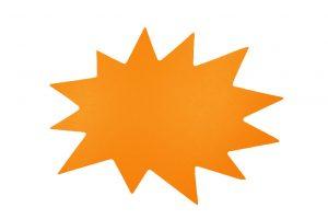 053. Schrijfbare kortingskaart ster neon oranje