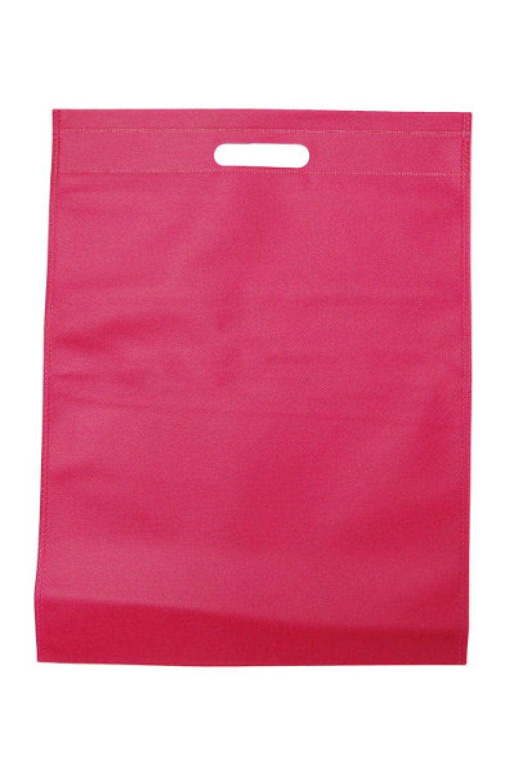 Non woven effen roze tas