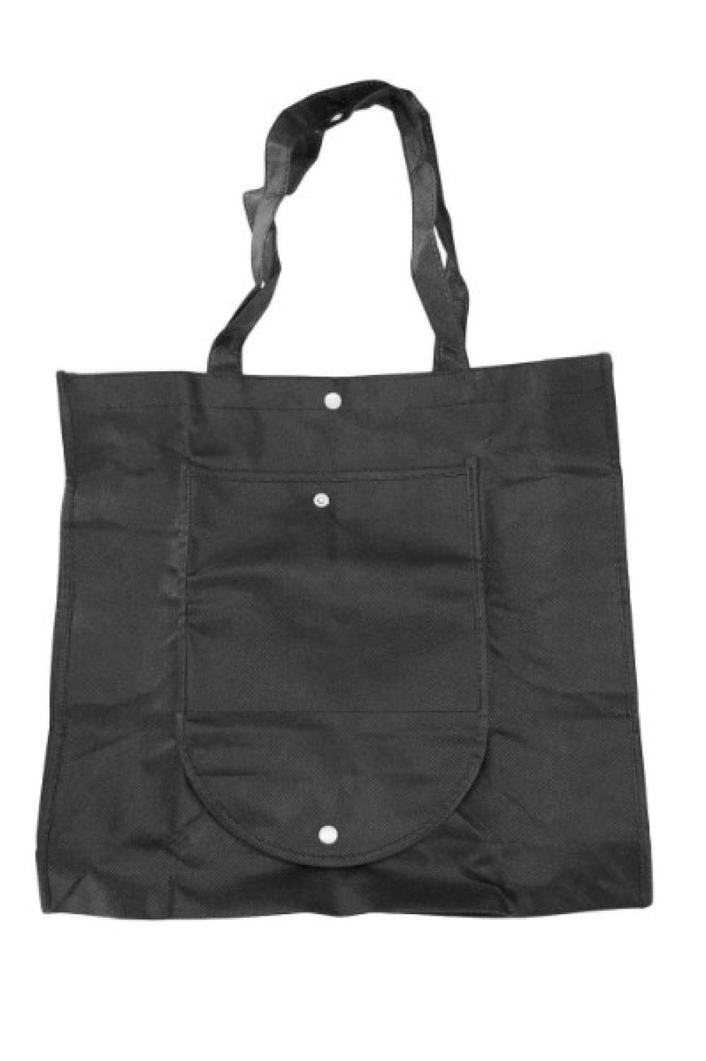 Opvouwbare non-woven tas zwart