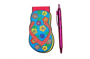034. Notitieblokje slipper met pen