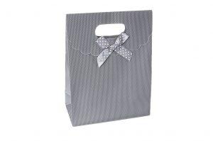 004. Kado tasje zilver/grijs (12 st.)