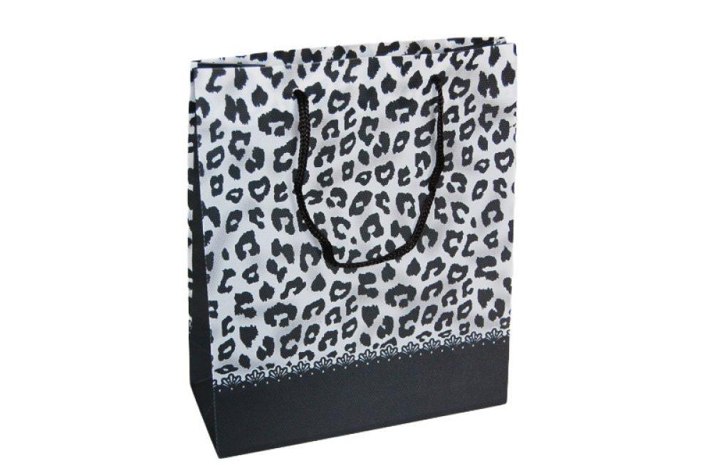 Non woven verpakking - panterprint zwart