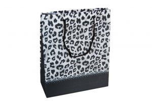 Non woven Verpackung – Pantherdruck schwarz(12 stück)