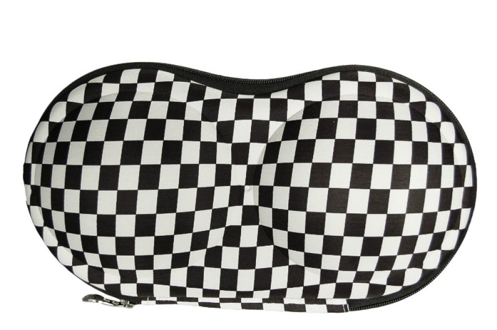 BH koffer zwart/wit ruit