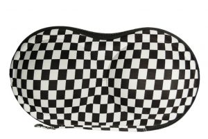 048. BH koffer black/white checked pattern
