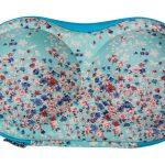 BH koffer groen/blauw bloem