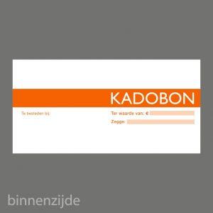 051. Kadobon blok oranje