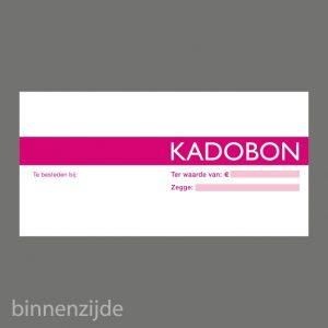 051. Kadobon blok roze