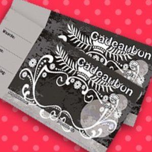 051. Kadobon print zwart