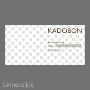 051. Gift voucher taupe dots