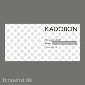 051. Kadobon stip zwart