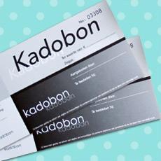 051. Kadobon effen zwart/wit