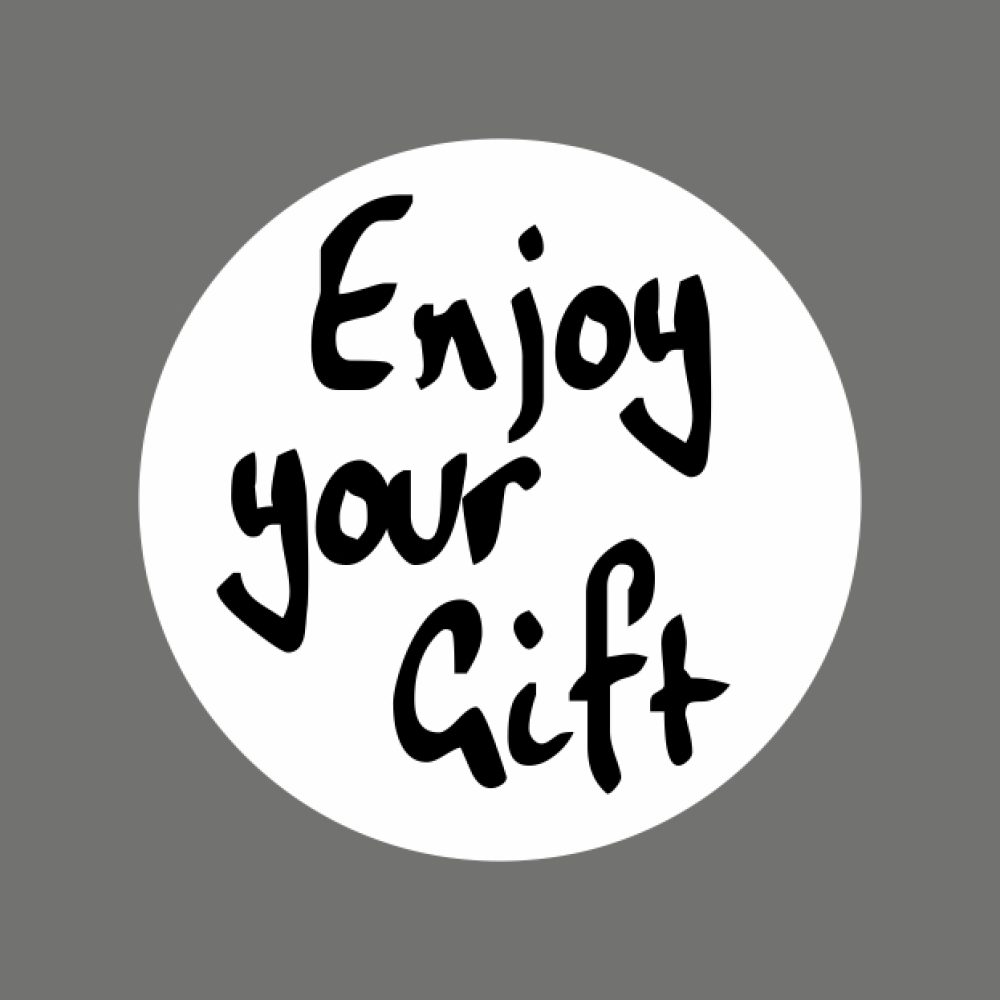 Sticker Teksten Bestellen.050 Stickers Tekst Enjoy Your Gift Walking Trading International