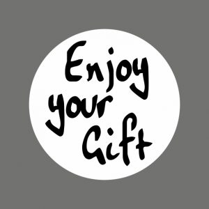 050. Stickers tekst 'Enjoy Your Gift'