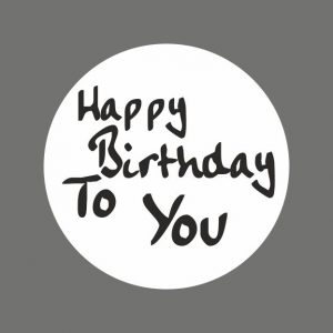 050. Stickers tekst 'Happy Birthday To You'