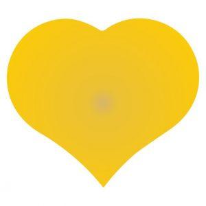 050. Stickers hart goud